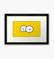 Minimalist Simpsons Framed Print