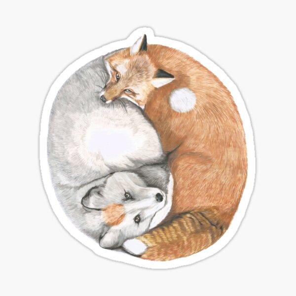 Fox Yin Yang Sticker