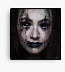 Demon Halloween Makeup Print Canvas Print