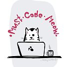 Cat Coder by Stars and Codes