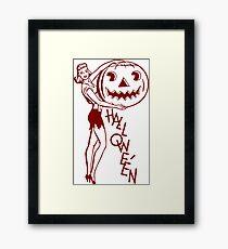 Sexy Comics Halloween Framed Print