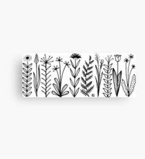 Blumenmuster scharz/weiß / flower pattern Canvas Print