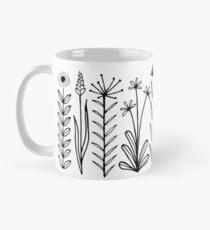Taza clásica Blumenmuster scharz / weiß / patrón de flores