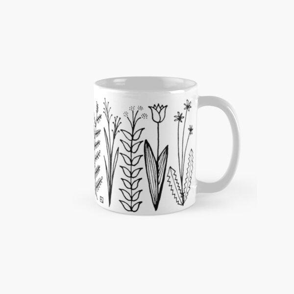 Blumenmuster scharz/weiß / flower pattern Classic Mug