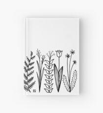 Blumenmuster scharz/weiß / flower pattern Hardcover Journal
