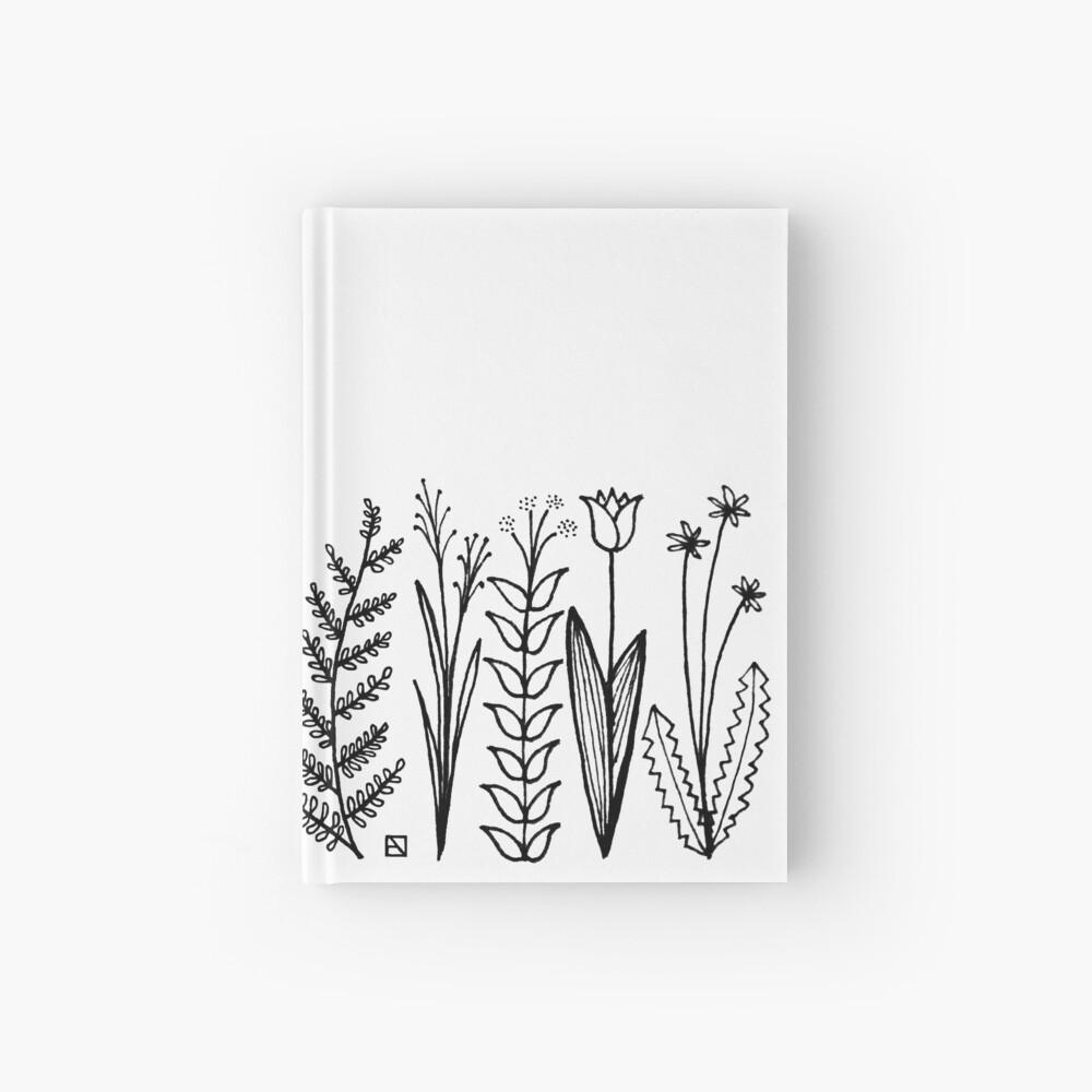 Blumenmuster scharz/weiß / flower pattern Notizbuch