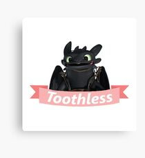 Toothless Cute Design | How To Train Your Dragon Canvas Print