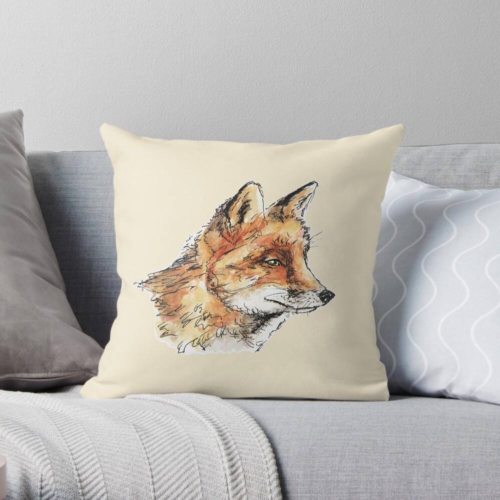 Fox Casual Throw Pillow