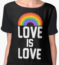 love is love rainbow Women's Chiffon Top