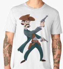 Cartoon Cowboy Men's Premium T-Shirt