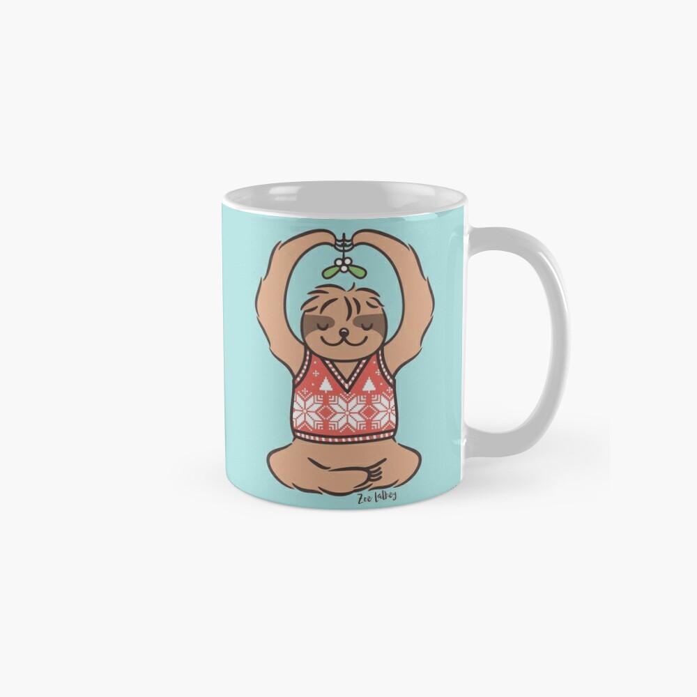 Christmas Kiss Sloth with Mistletoe Mug
