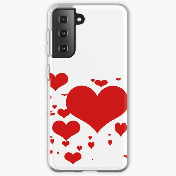 Red hearts for love pattern  Samsung Galaxy Soft Case