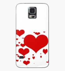 Red hearts for love pattern  Case/Skin for Samsung Galaxy