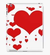 Red hearts for love pattern  iPad Case/Skin