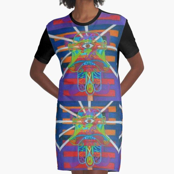 Hexagram 14-Ta Yu (Wealth) Graphic T-Shirt Dress
