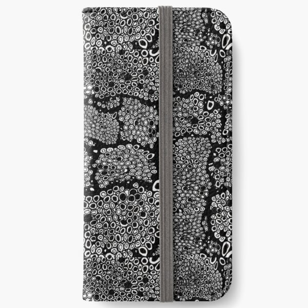 black and white honeycomb bold pattern iPhone Wallet