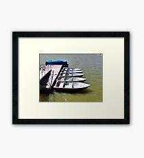 """""""Row"""" Boats Framed Print"""