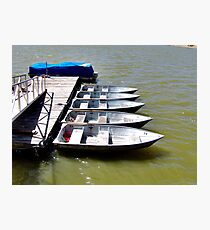 """Row"" Boats Photographic Print"