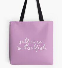 Bolsa de tela el cuidado personal no es egoísta