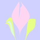 Spring – violet pink green floral pattern by HEVIFineart