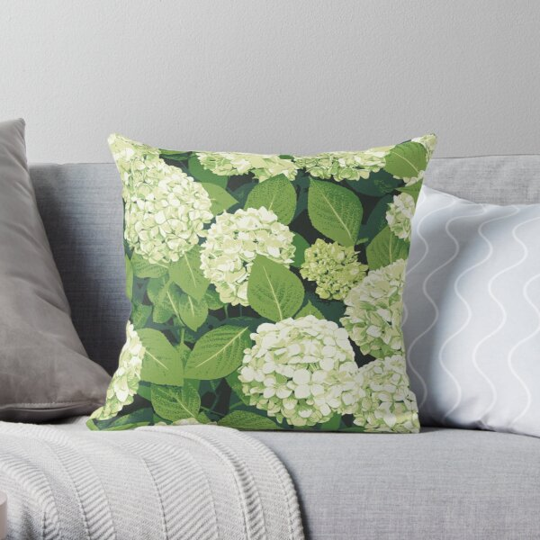 Bloom in White Throw Pillow