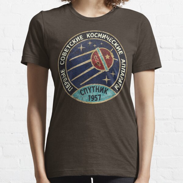 Vintage Blue Badge Спутник V01 Essential T-Shirt