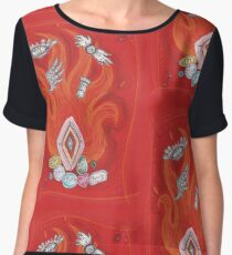 Die by the Fire, Born from the Ashes Women's Chiffon Top