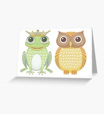Frog & Owl Greeting Card