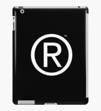 B/W Trademarked Circle R iPad Case/Skin