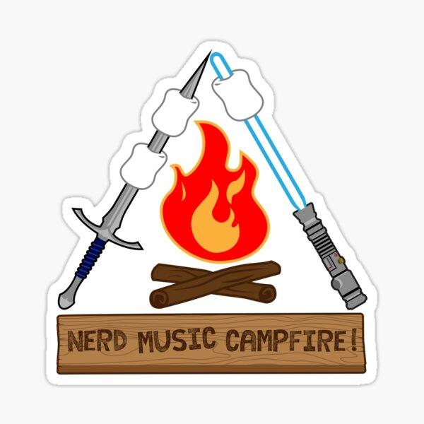 Nerd Music Campfire Classic Logo Sticker