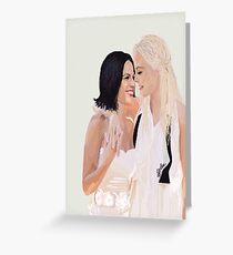 SwanQueen Wedding Digital Fanart Poster Greeting Card