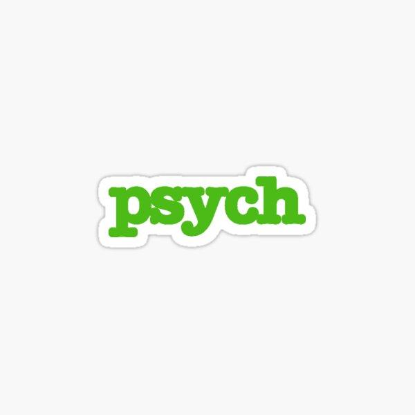 Psych Logo Sticker