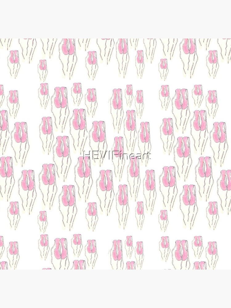 Pink Ballet Slippers pattern by HEVIFineart