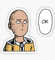 One Punch Man Saitama Sticker