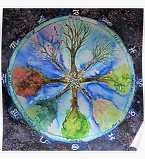 Tree Wheel Poster