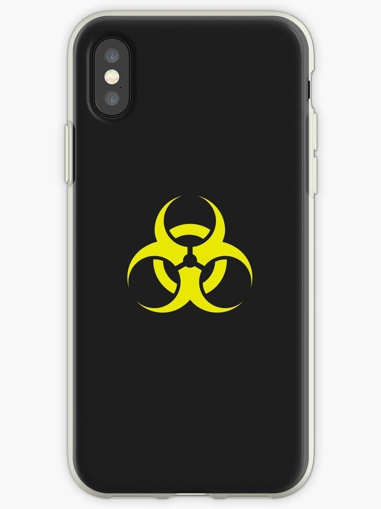 'Toxic, biologic Hazard bio danger alert v2' iPhone Case by HQPhotoStore