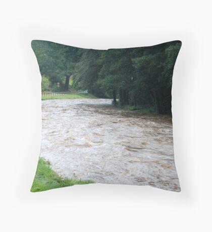 Egton Bridge -- After the rain Throw Pillow