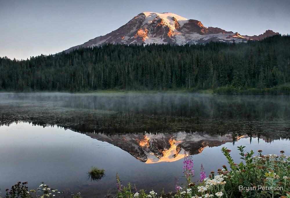 Sunrise on Reflection Lake by Bryan Peterson