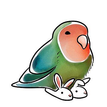 Lovebird Bunny Slippers by KeesKiwi