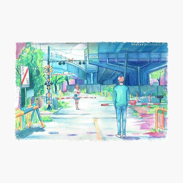 起 Jin Highlight Reel Watercolor Photographic Print