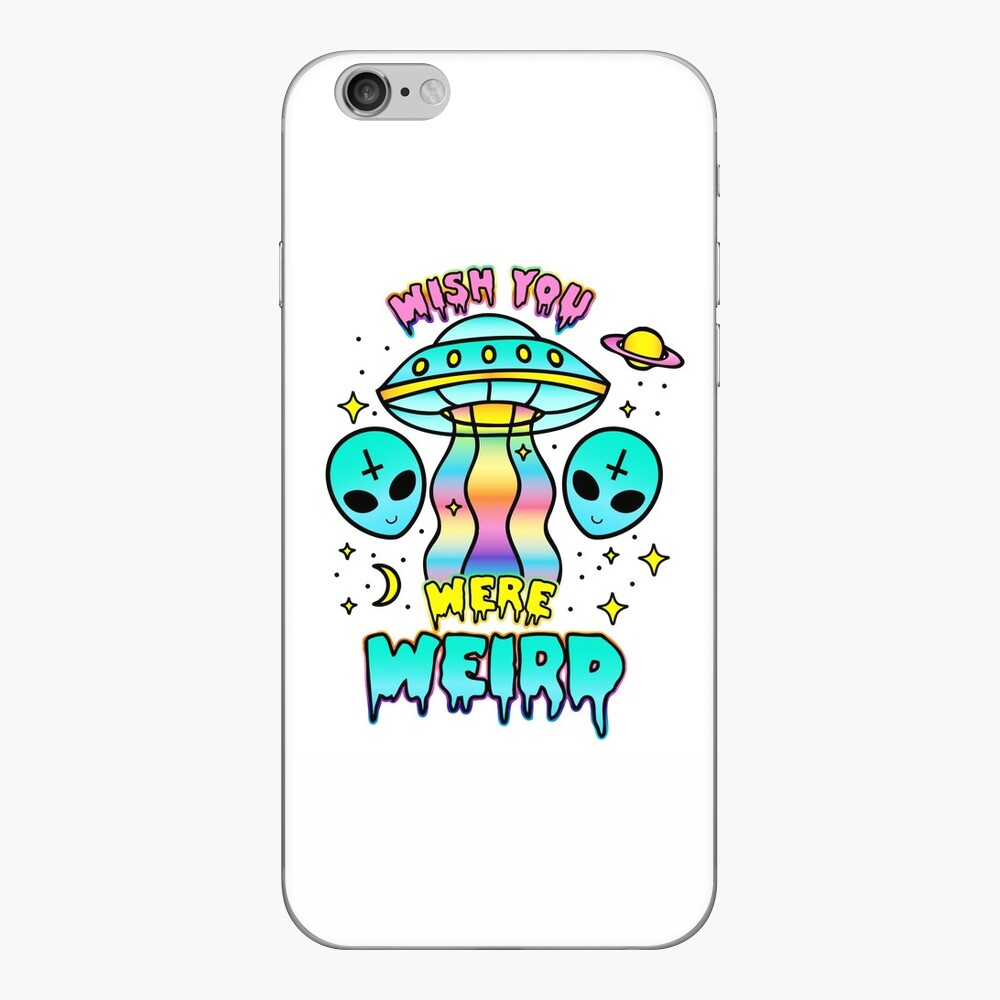 Wish You Were Weird iPhone Skin