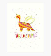 Fabulousaurus Art Print