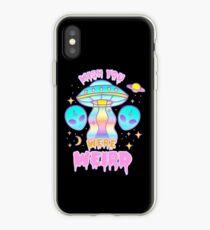 Wish You Were Weird (pastel) iPhone Case