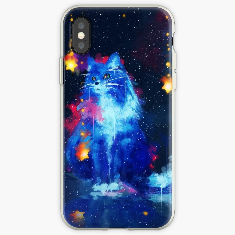 Kosmische Katze iPhone-Hüllen & Cover