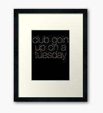 ILoveMakonnen and Drake - Tuesday (Gold) Framed Print