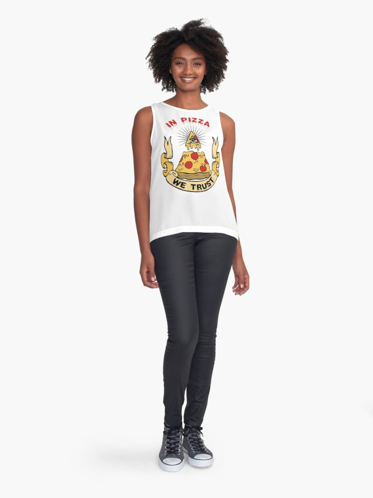 Alternate view of In Pizza We Trust Sleeveless Top