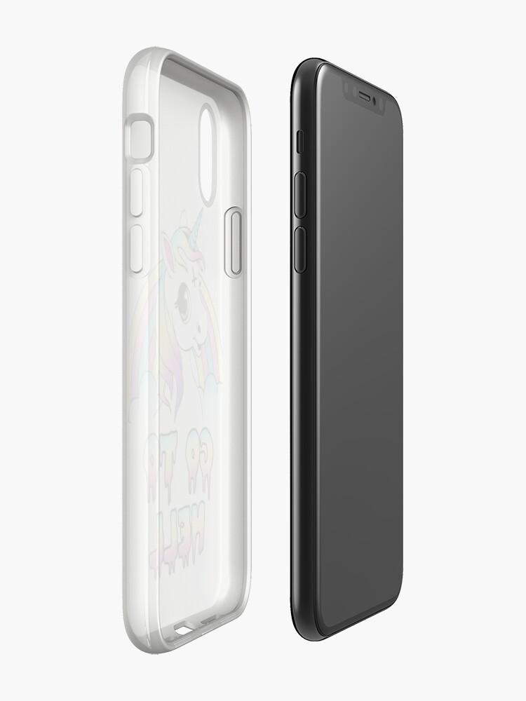"""Vista alternativa de Funda y vinilo para iPhone """"Go To Hell"""" Pastel Goth Unicornio"""