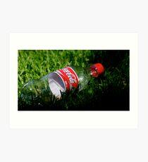 Coke Bottle Art Print