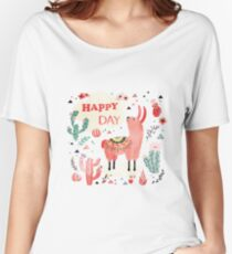 Happy Lama Women's Relaxed Fit T-Shirt