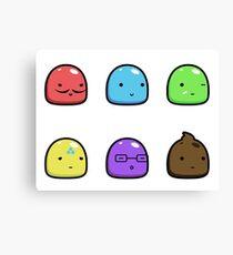 Slime Mascots Canvas Print